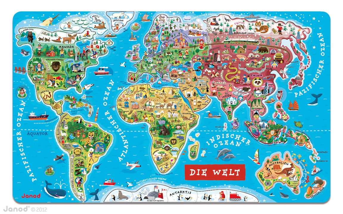 Rompecabezas Magnético Mundo (Alemán) 92p.