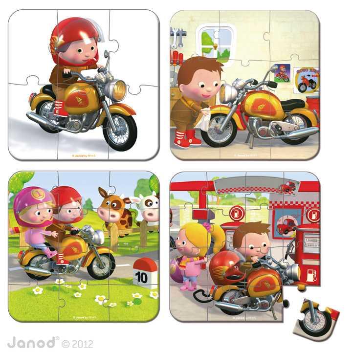 Rompecabezas Marco Y Su Moto 4x1 - Janod | MUYU toys