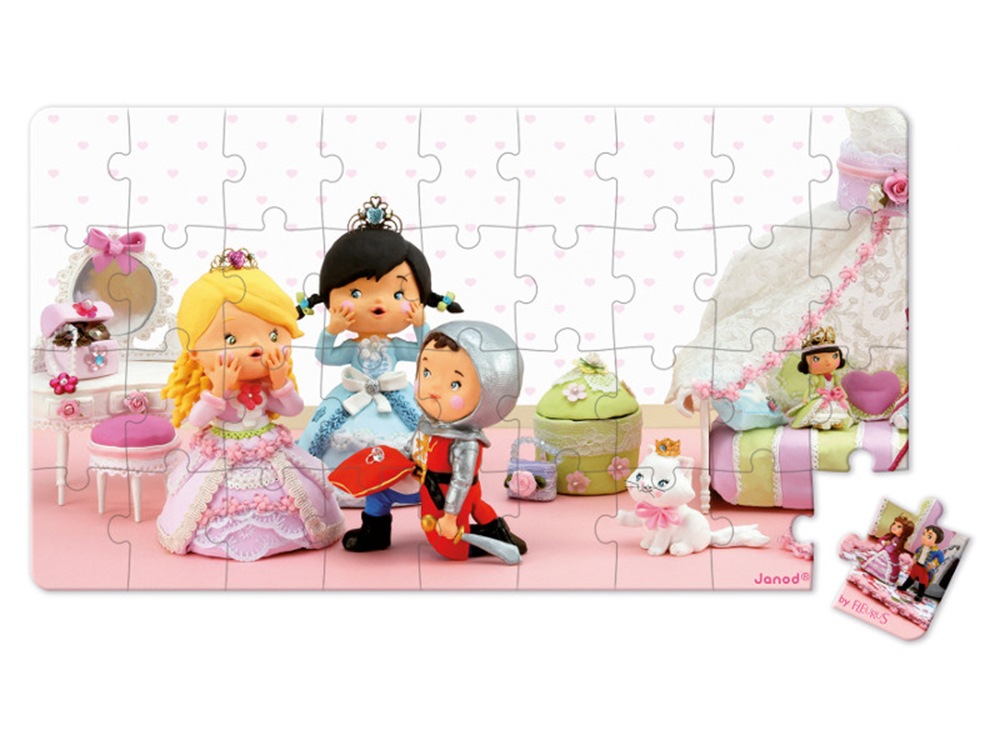 Lovely Puzzle Rose Juega A Las Princesas