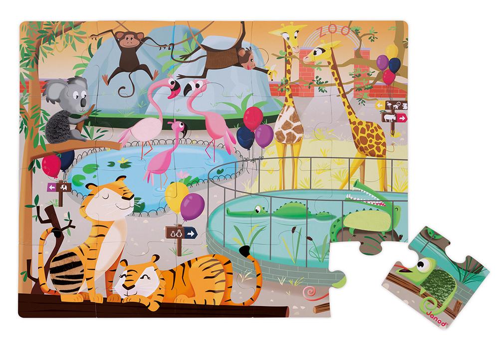 Puzzle Táctil Un Día En El Zoo