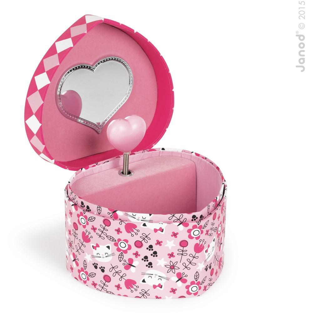 Caja De Música Corazón Gato