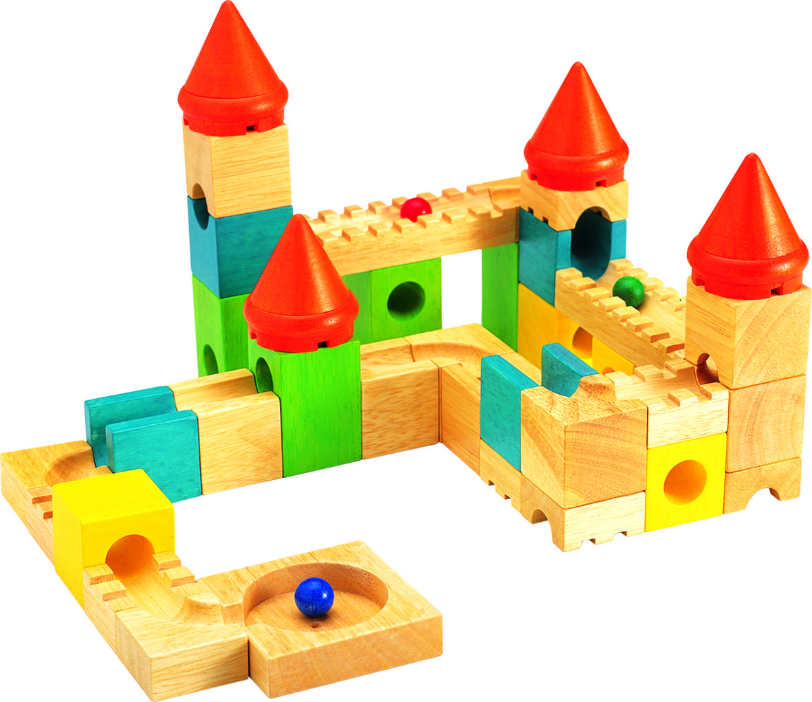Bloques De Construcción Con Canicas