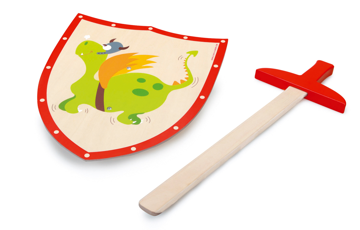 Dragón Verde Espada Y Escudo