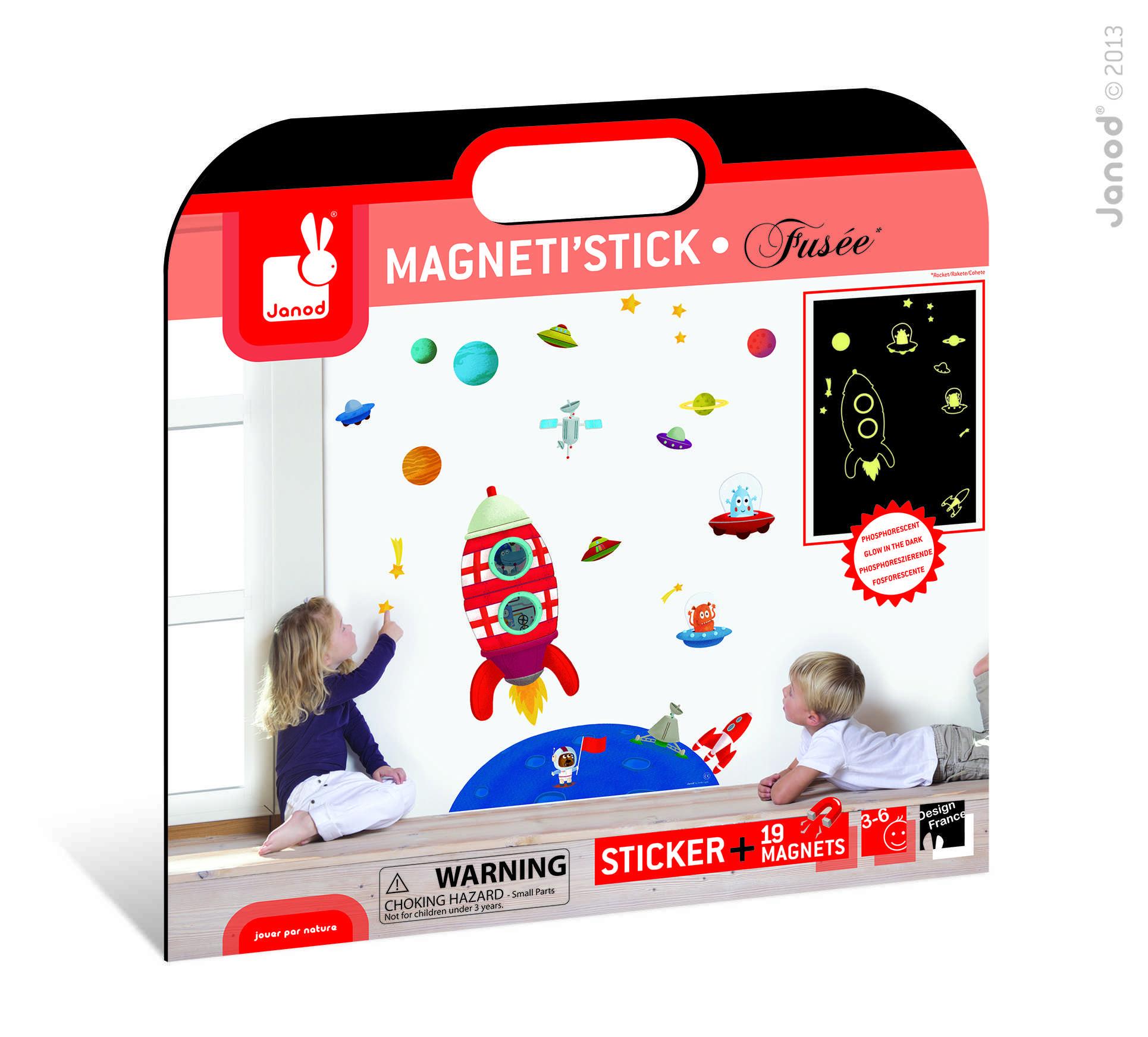 Magneti Stick Cohete Fosforescente