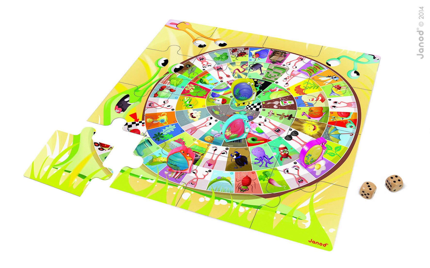 Juego Carrera De Caracoles & Puzzle De Piso Gigante