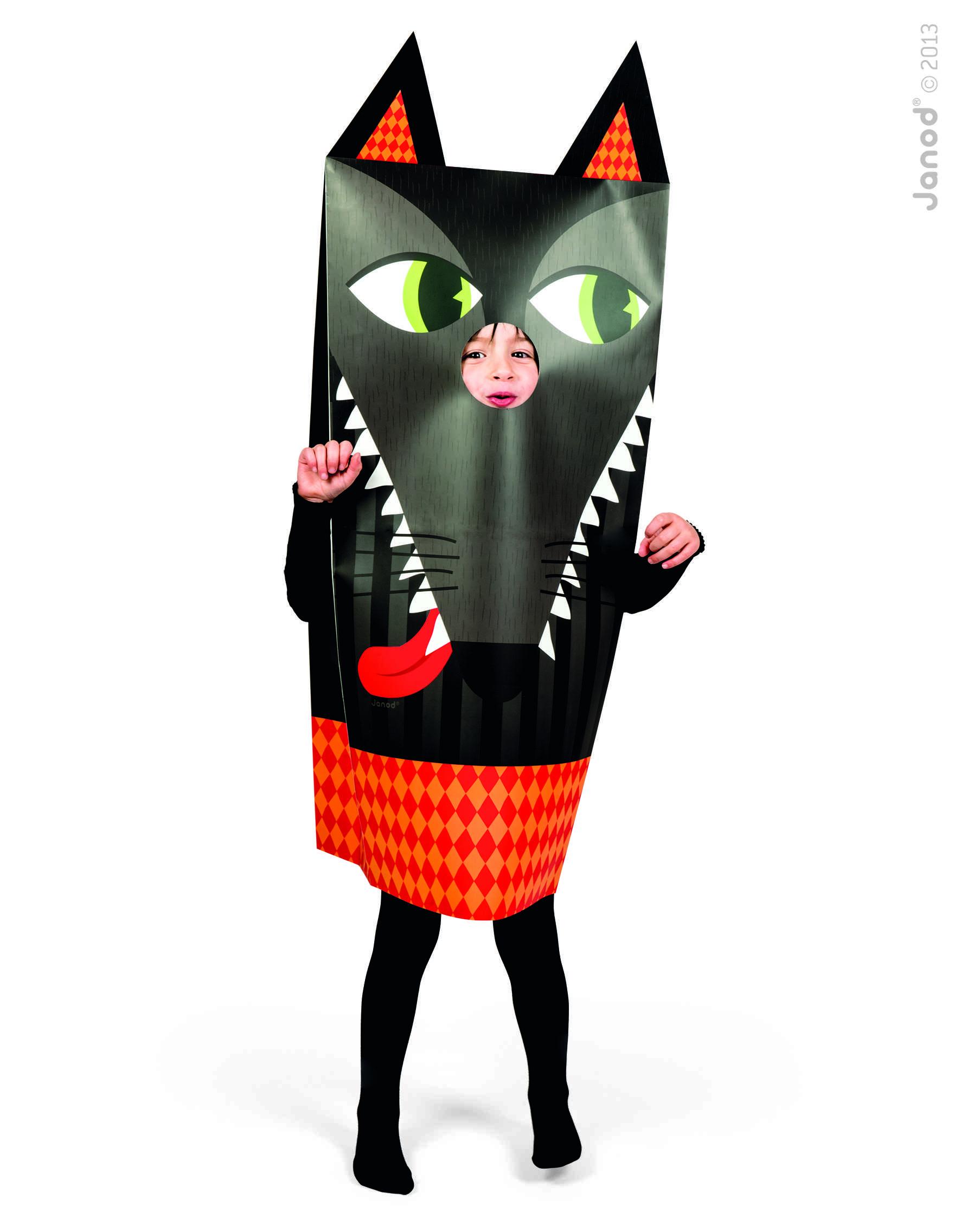 Sackanimo Lobo (Disfraz De Papel)
