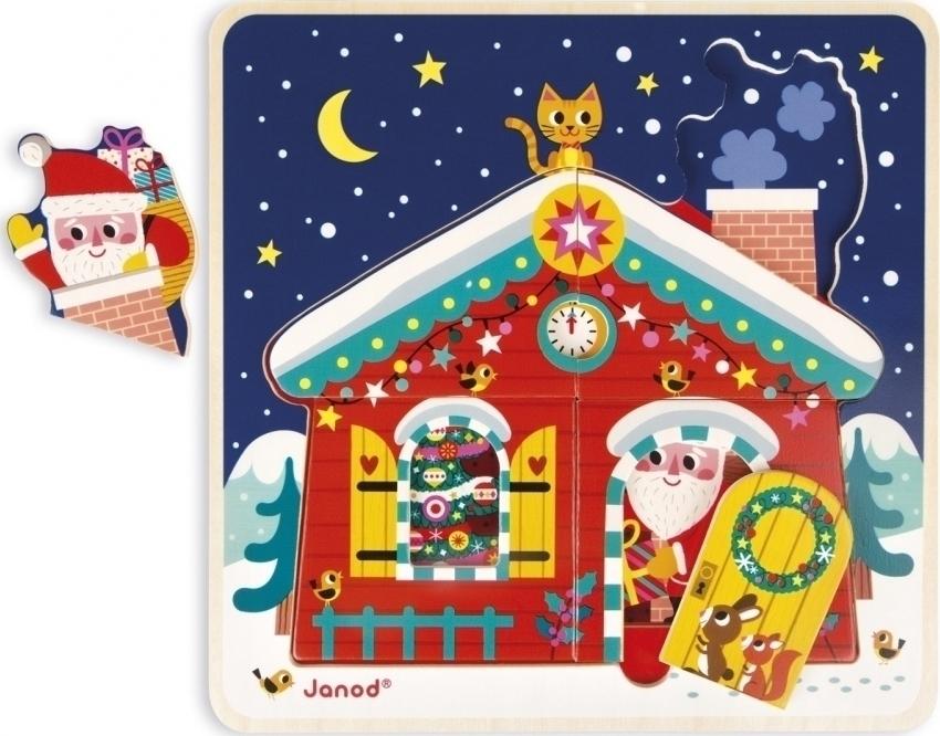 Puzzle De Madera 3 Niveles Navidad