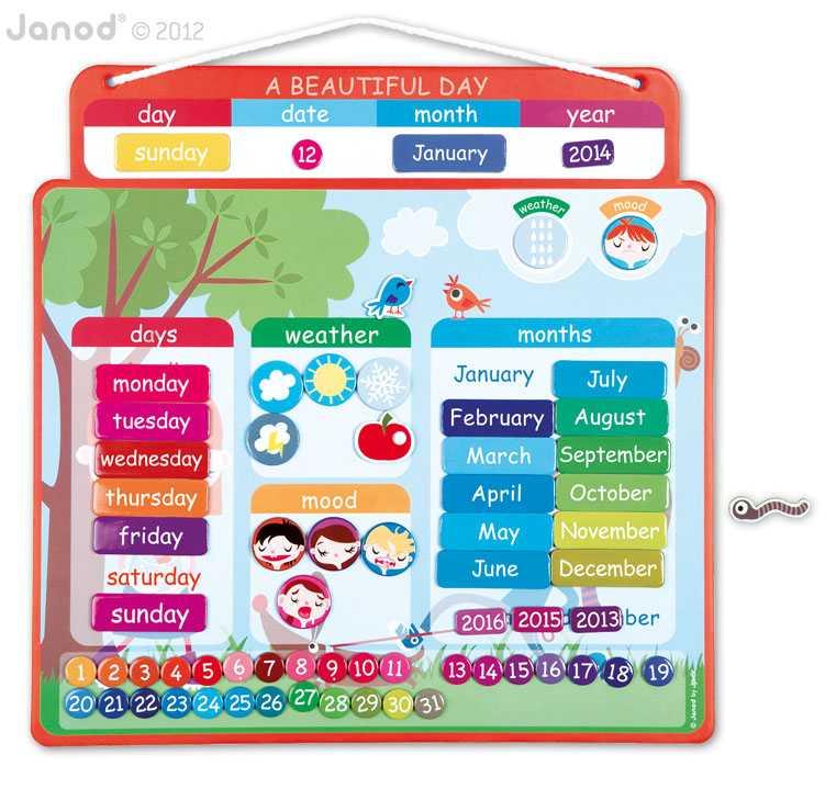 Agenda Magnética En Inglés Un Hermoso Día