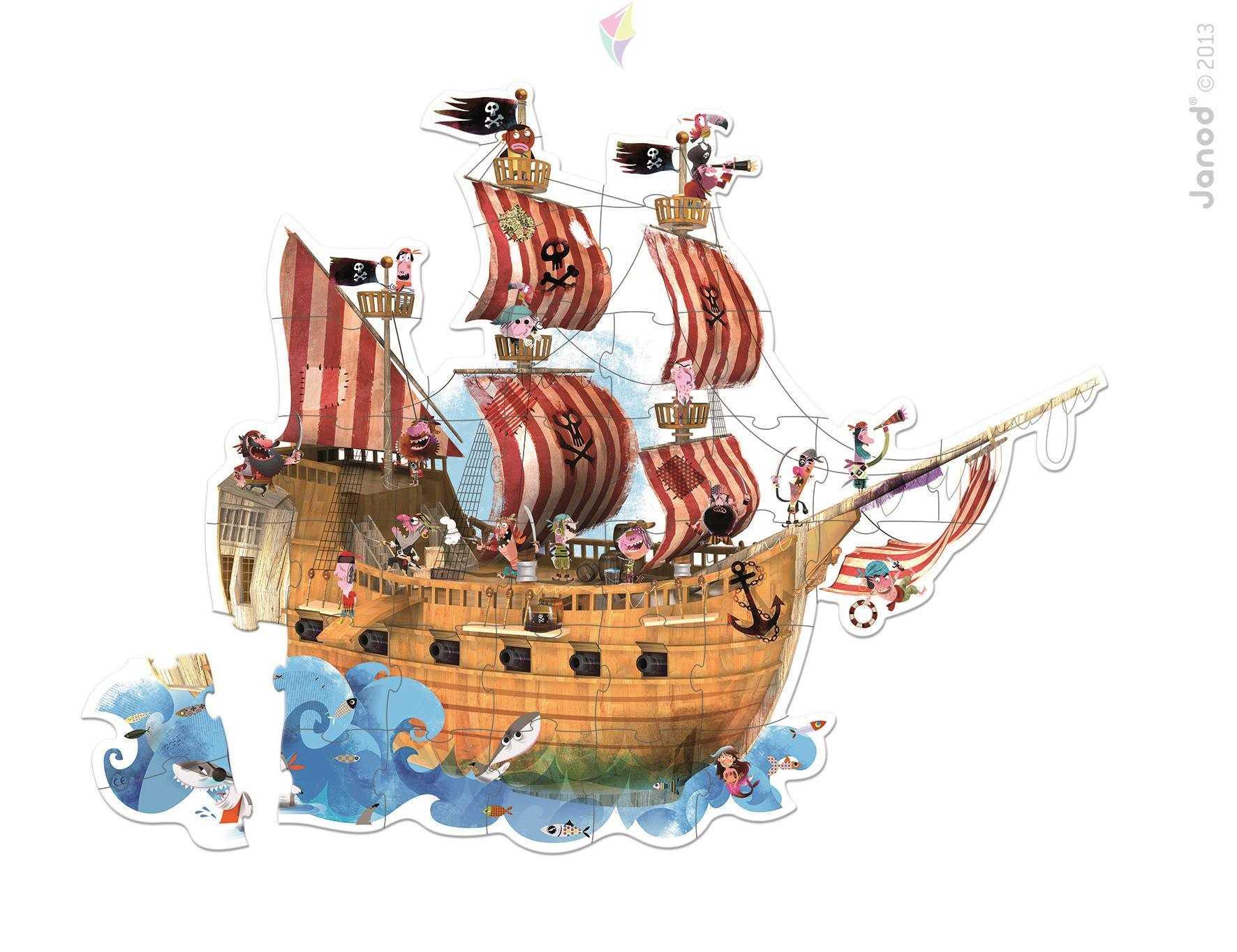 Rompecabezas De Piso X 39p. Barco Pirata