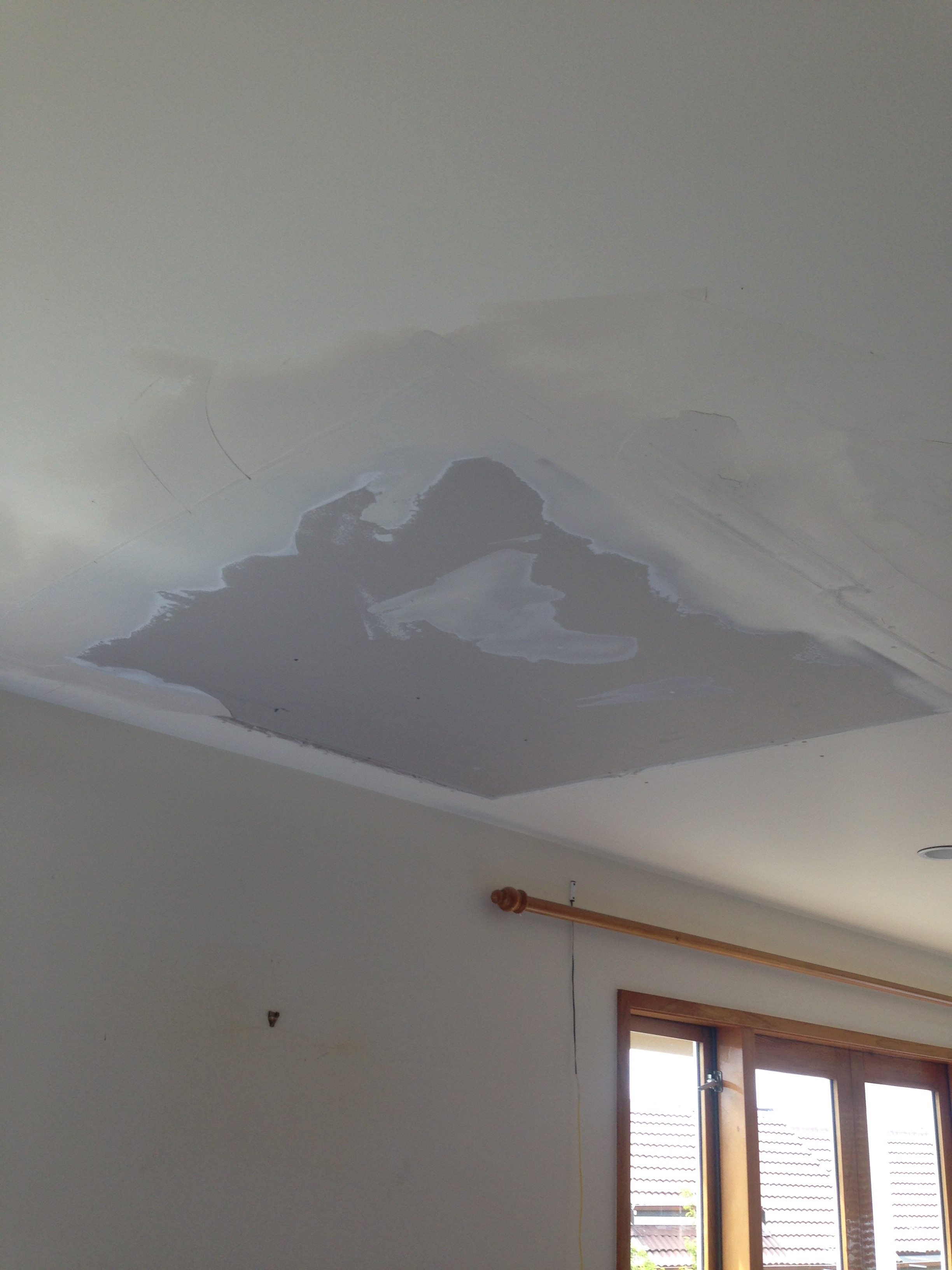 polyfilla poor attempted area plaster repair of x photo ceiling cracked fix bad