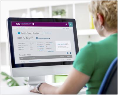 Ally银行几乎完全是在线的。他们的网站通常很容易浏览。