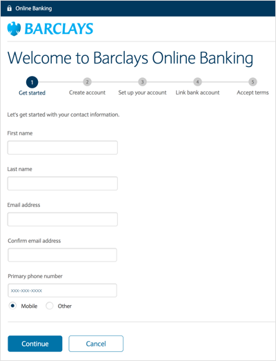 Barclays review smartasset opening an account with barclays is an easy and pretty standard process you can do so online or over the phone the first step of the online application reheart Images