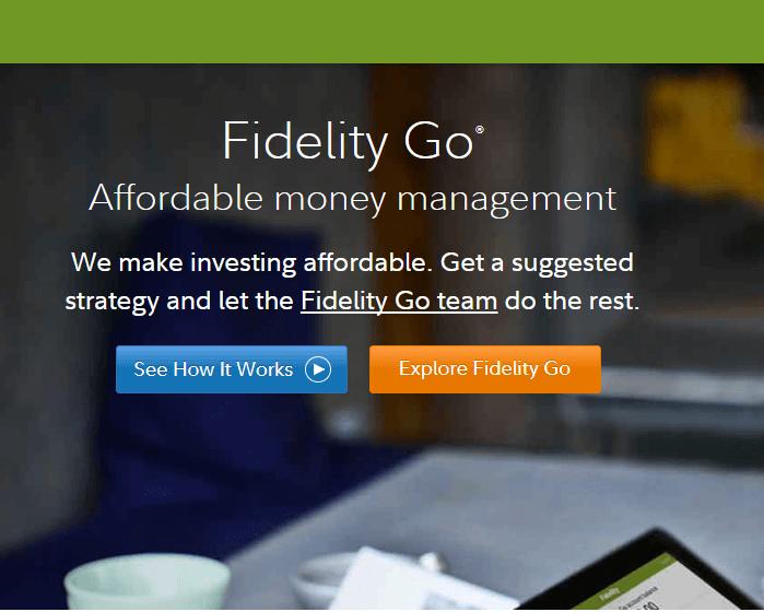 Fidelity Go Homepage