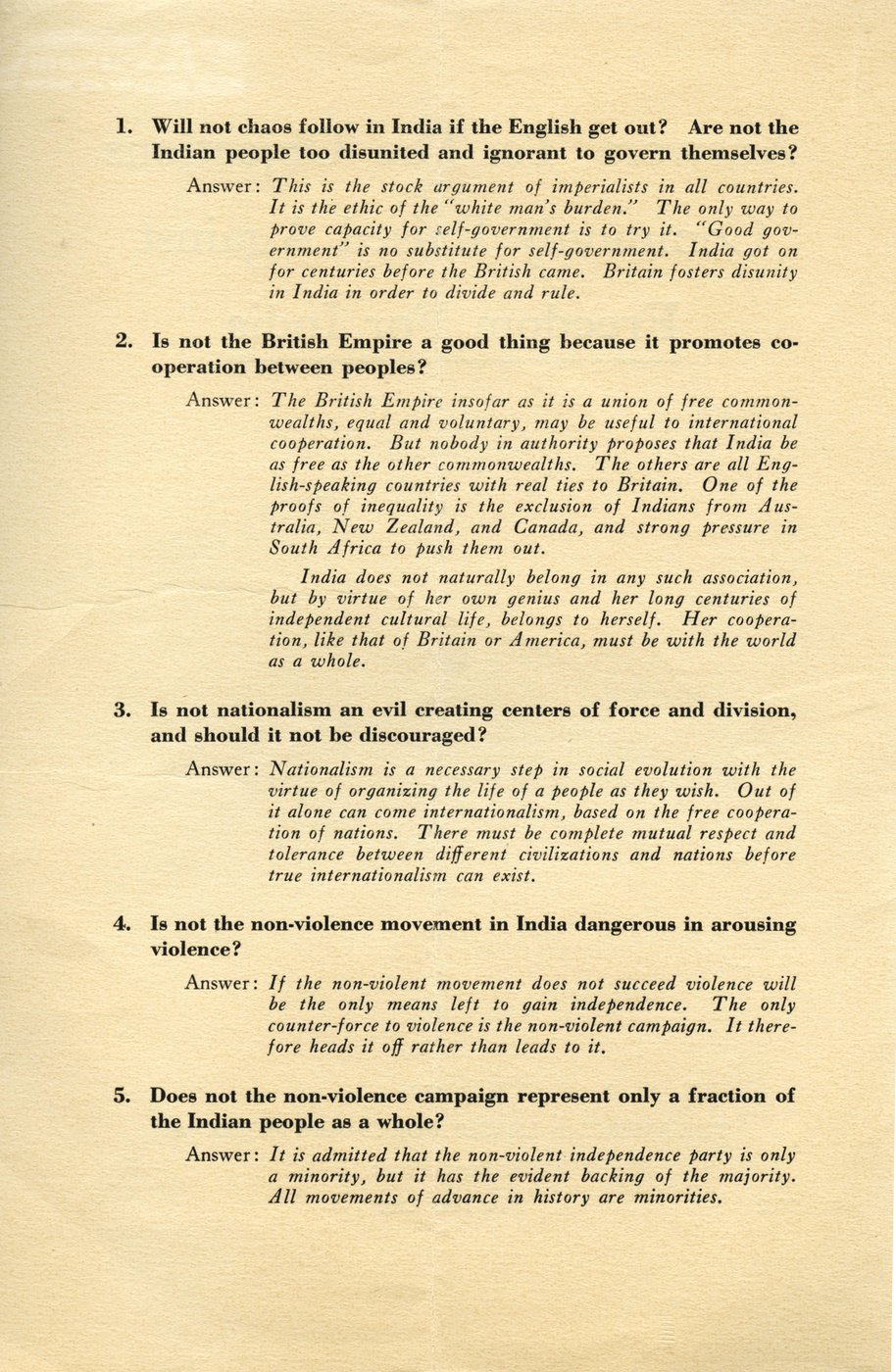 Answers To The Objections Commonly Raised Against Freedom