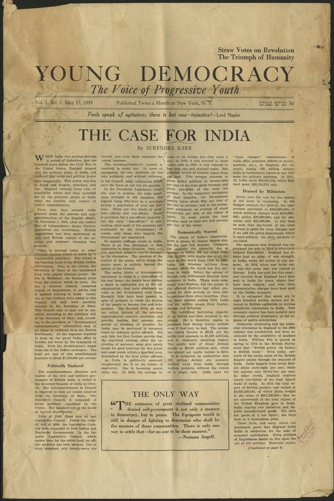 Young Democracy (Vol  1, No  3) | South Asian American