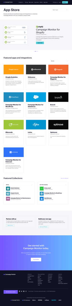 Campaign Monitor – Integrations page 1