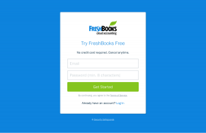 Signup page inspiration - saas FreshBooks