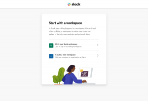 Sign up page inspiration - Slack