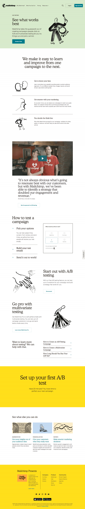 Mailchimp - Features page 2