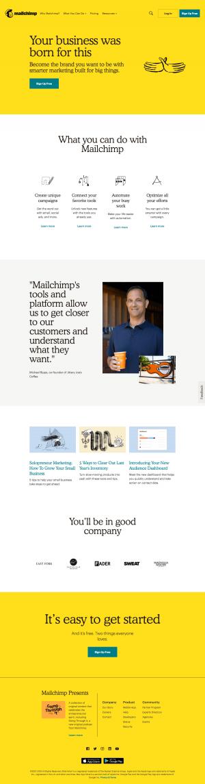 Mailchimp - Homepage