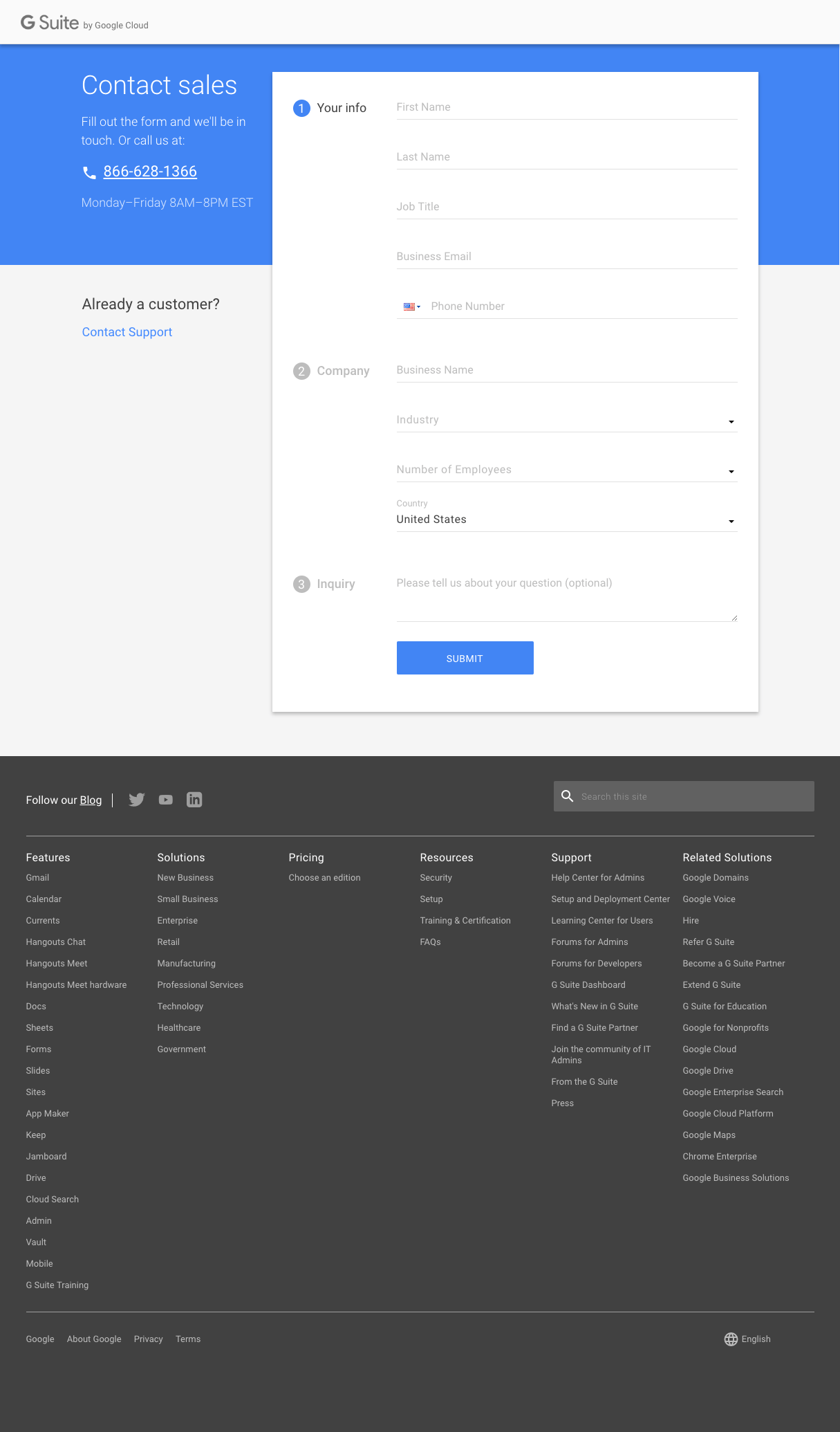 Gmail - Contact page