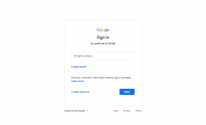 Gmail - Login page