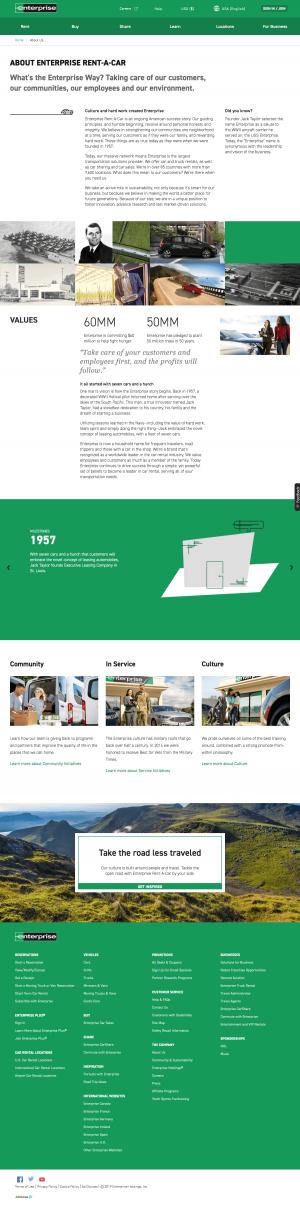 About us page - enterprise