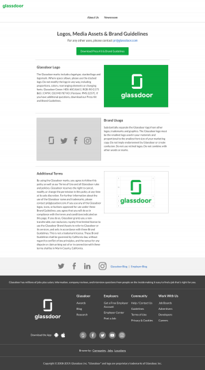 Mediakit page - Glassdoor