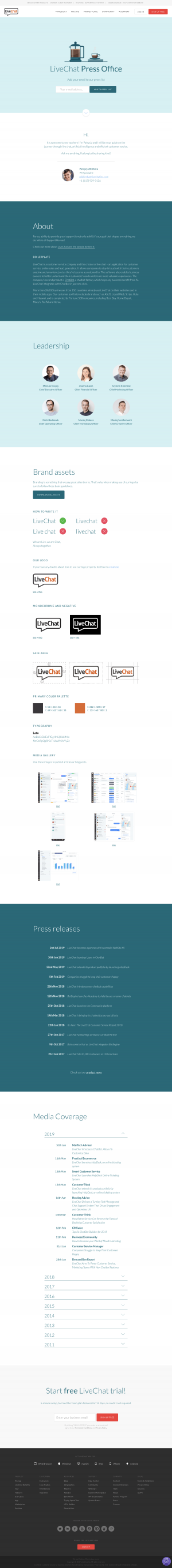 LiveChat - Media Kit page