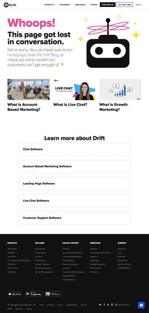 Drift - 404 Error page