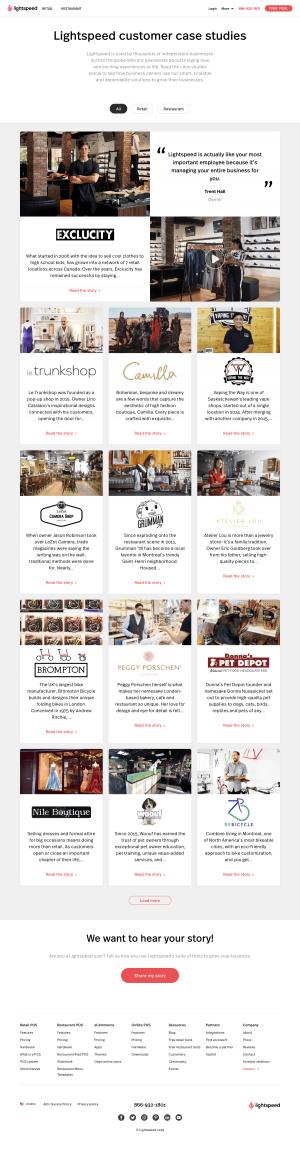 Lightspeed - Customers page