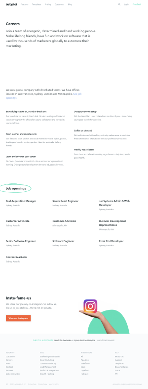 Autopilot - Career page