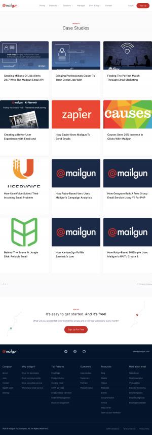 Mailgun - Case studies page