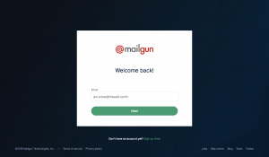 Mailgun - Login page
