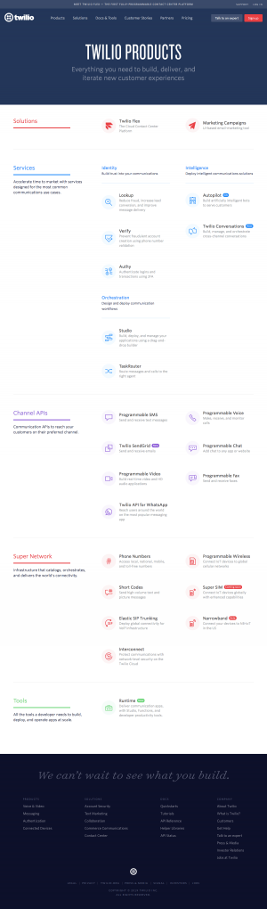 Twilio - Features page 1