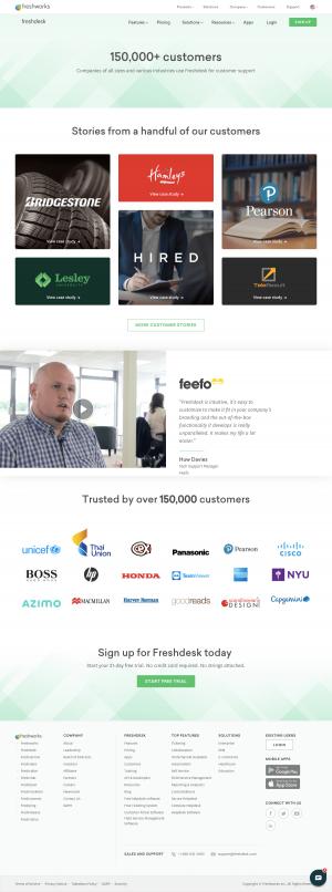 Freshdesk - Customers page