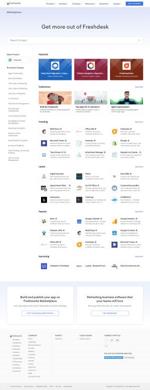 Freshdesk - Integrations page