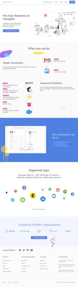 Automate.io - Homepage