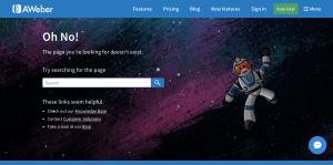 AWeber - 404 Error page