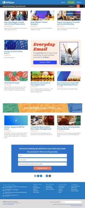 AWeber - Blog index