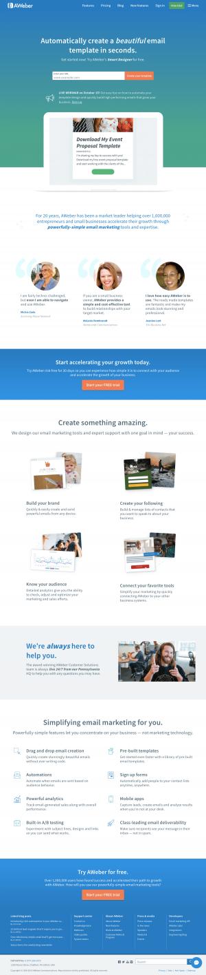 AWeber - Homepage