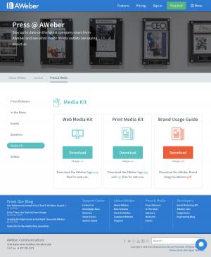 AWeber - Media kit page