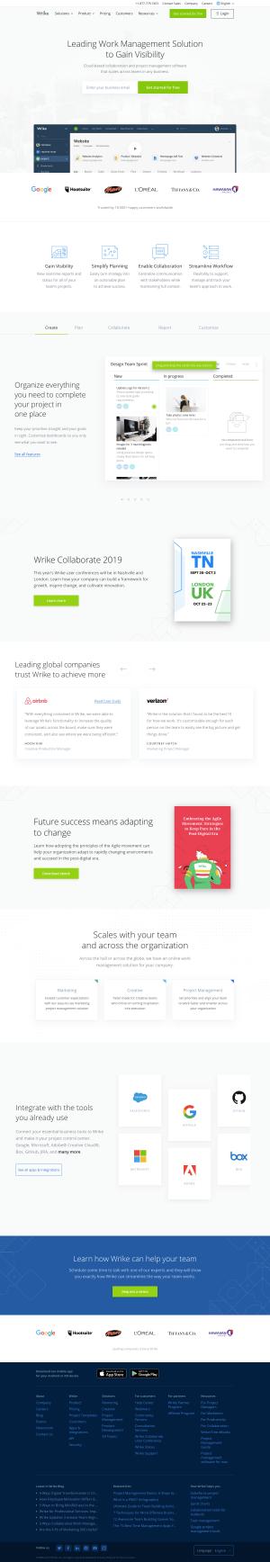 Wrike - Homepage