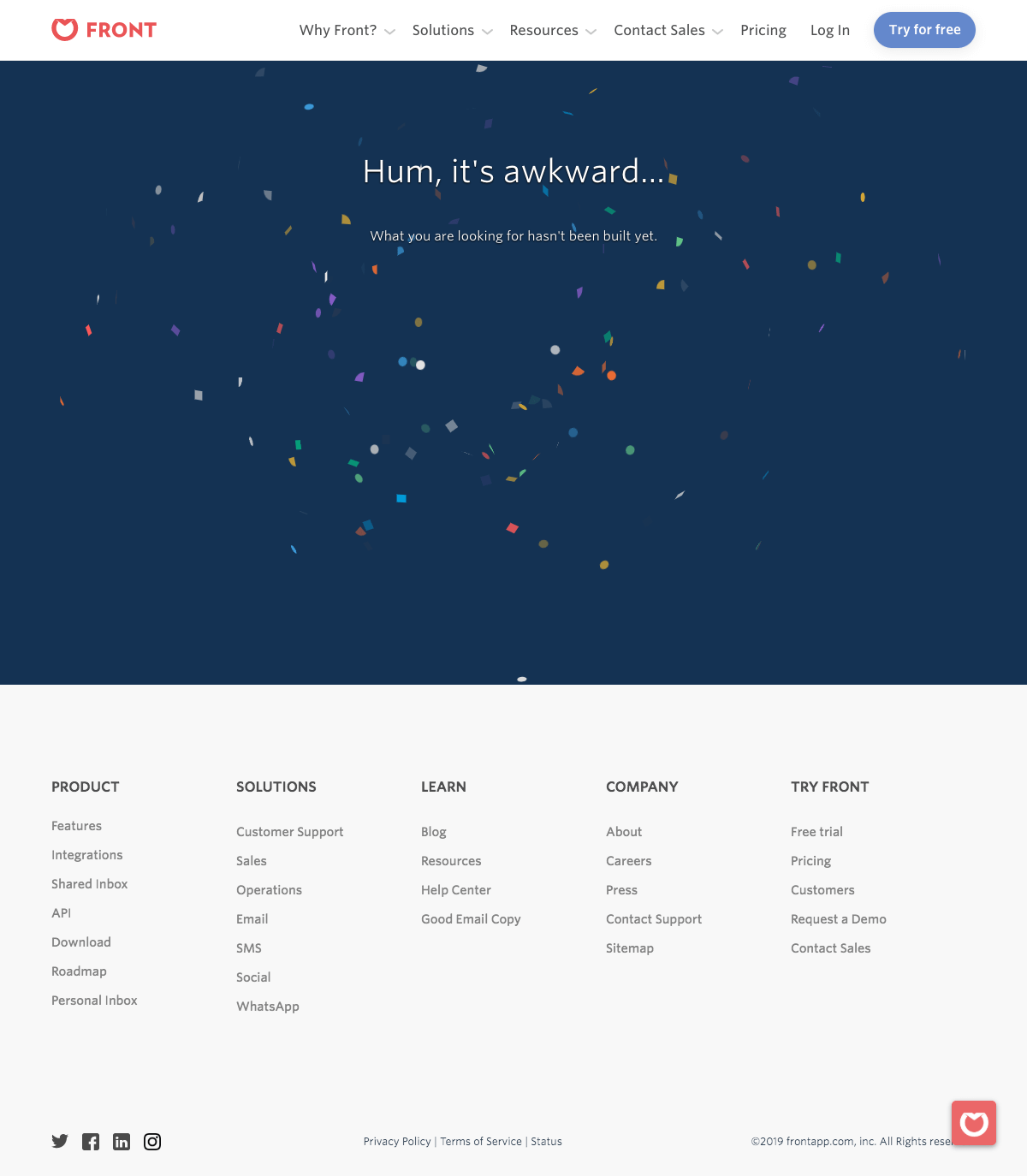 Front - 404 Error page