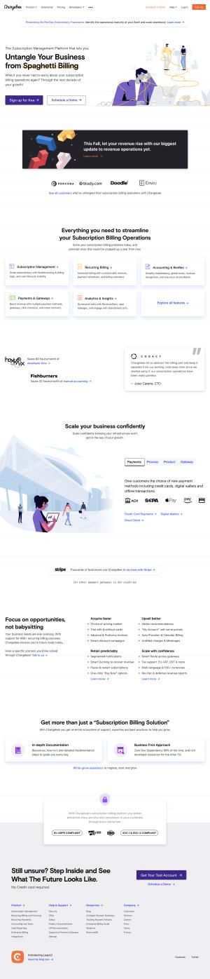Chargebee - Homepage