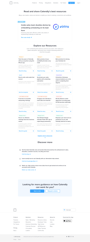 Calendly - Resources page