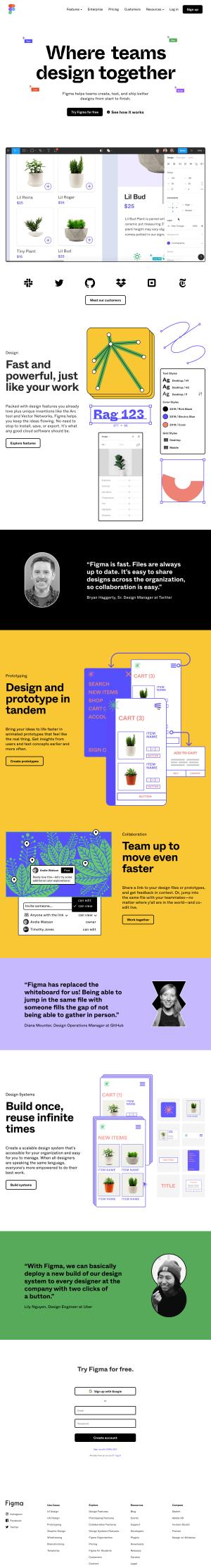 Figma - Homepage