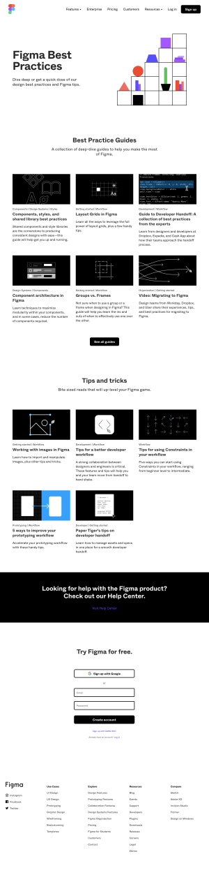 Figma - Resources page