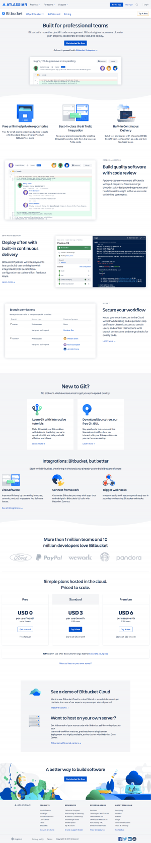 Atlassian - Features page 1