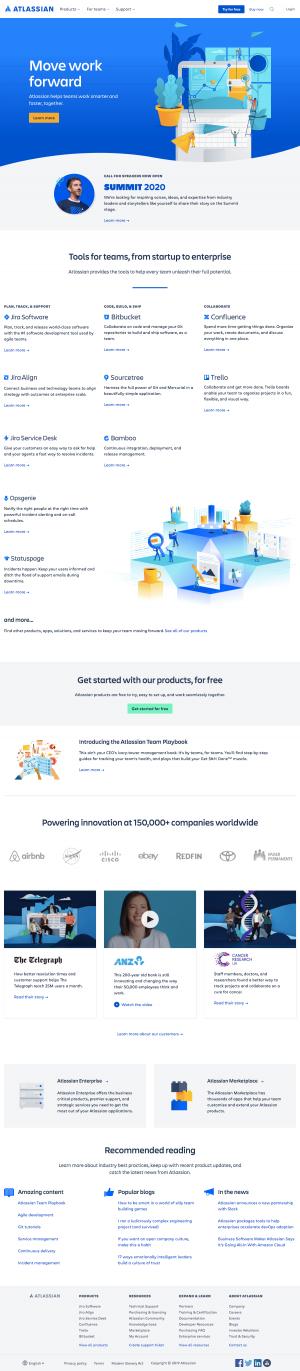 Atlassian - Homepage